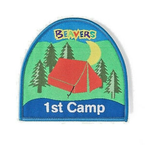 Beaver Scouts 1st Camp Fun Badge. OFFICIAL SUPPLIER.