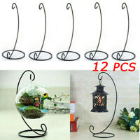 12X Christmas Hanging Bauble Sphere Tree Plant Light Gift Holder Stand DIY Decor