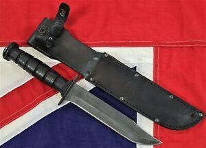 1980 US MARINE ONTARIO KABAR FIGHTING KNIFE USMC MK2 KA BAR ORIGINAL BRAND USN