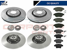 PEUGEOT 207 2006-2012 FRONT & REAR BRAKE DISCS PADS WHEEL BEARINGS ABS RINGS