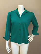 Domenico Vacca Italy Kelly Green Egyptian Raw Cotton Button Down Shirt 38/XS
