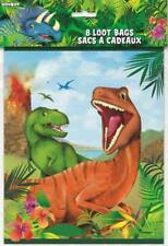 DINOSAUR LOOT BAGS PACK OF 8 BIRTHDAY PARTY LOLLY TREAT BAGS