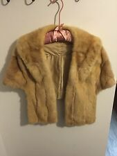 Vintage Mink Fur Stole Wrap Cape Shrug Coat Jacket Excellent ON SALE!