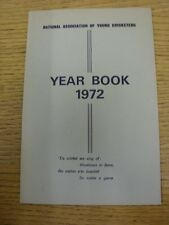 1972 Cricket: National Association Of Young Cricketers - Yearbook. Thanks for ta