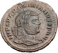 MAXIMIAN  297AD Big Follis Authentic Genuine Ancient Roman Coin Genius i63198