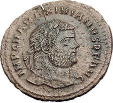 MAXIMIAN 297AD Big Follis Authentic Genuine Ancient Roman Coin Genius i63198