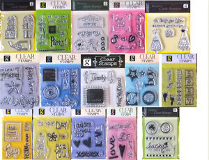 STUDIO G ACRYLIC UNMOUNTED MINI STAMPS 35 DESIGNS TO CHOOSE FROM