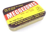 Meggezones Cough Cold Relief Meggeson Tin Box Empty Container Health T521