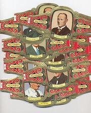 Lote de 64 vitolas de Alvaro. Serie Premios Nobel.