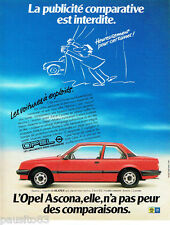 PUBLICITE ADVERTISING 056  1983   Opel Ascona  2 portes