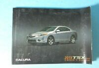 13 2013 Acura TSX Sedan owners manual