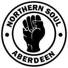 ABERDEEN - NORTHERN SOUL - CAR / SCOOTER /  WINDOW STICKER + 1 FREE / NEW / GIFT