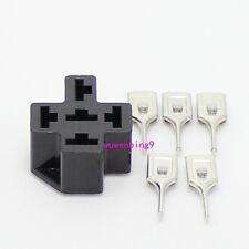 10 sets - PCB auto relay socket 5pin  and 5pcs  6.3mm terminal car relay holder