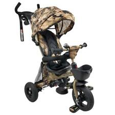 Foldable Tricycle Toddler Kid Pram Stroller Ride on Trike Control Handle Army