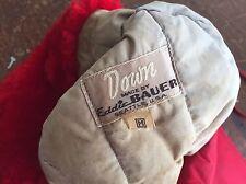 Vintage 1940/50s Eddie Bauer Down Hunting Cap Hat Medium Red Usa