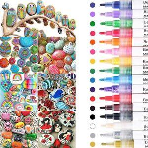 16 Farben Acrylstifte Marker Set permanent wasserfest Für DIY Graffiti Steine