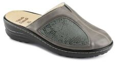 TIGLIO PANTOFOLE CIABATTE da donna art. 2751 MF ecopelle grigio memory  slippers d6e93e74283