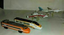 Vintage Galoob Micro Machines Lot Vehicles Jets Bullet Trains