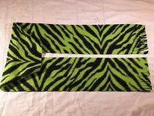 Green Zebra Stripes Skin Fleece Scarf Animal Print