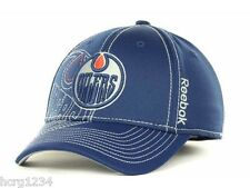REEBOK M250Z NHL PRO DRAFT FLEX FIT HOCKEY HAT/CAP - EDMONTON OILERS - L/XL