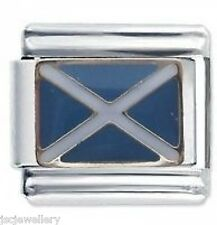 Scotland Flag - Daisy Charm by JSC Italian Charms Fits Classic Size Bracelet