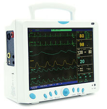CE FDA Contec CMS9000 6 Parameter ICU Patient Monitor-SPO2,PR,NIBP,RESP,TEMP,ECG