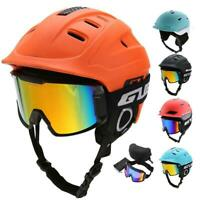 Ski Snowboard Helmet With Visor Goggles Sports Safety Breathable Head Protector