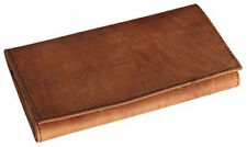 4th Generation Hunter Brown Quality Suede Leather Roll-up Tobacco Pouch - 7953