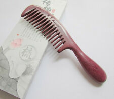 Purple Nice KH031X QiaoYaTou Natural Violet Wood Wide-toothed Health Care Comb