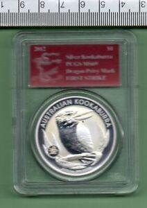 2012 AUSTRALIA SILVER SLABBED 1st STRIKE KOOKABURRA DRAGON P.M. PCGS MS 69