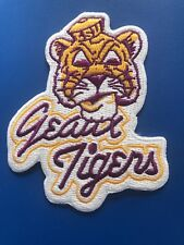 "Lsu Tigers vintage iron on patch new old stock 3.5"" x 3"""