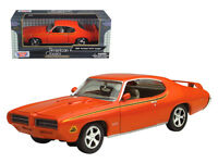 1969 Pontiac GTO Judge Orange 1:24 Diecast Model - by Motormax - 73242OR   *