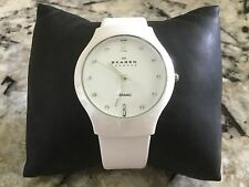 Skagen Women's 817SWLWC Quartz Ceramic White Dial Watch