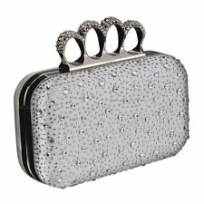 Ivory Ring Handle Clutch Bag Gift Boxed Wedding Prom Party Evening New