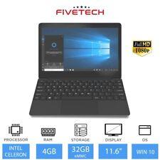 "FIVETECH 1M 11.6"" Refurbished Laptop Intel Celeron N4000, 4GB RAM, 32GB, Wind 10"