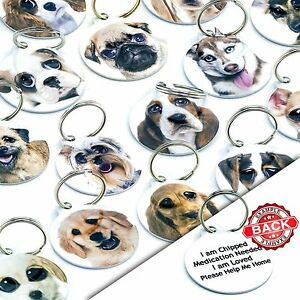Breed Pet ID Tags Personalised Dog Name Collar Tags Discs Pet Tags Engraved Free