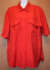 Womens Red Short Sleeve Fred David Shirt Size 12 excellent