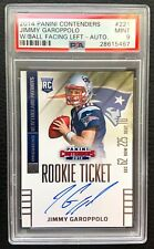 🏈 Jimmy Garoppolo 2014 PSA 9 MINT Contenders Rookie Ticket Auto RC