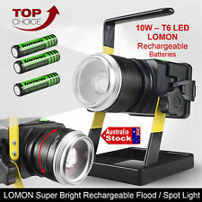 RECHARGEABLE 10W LED FLOOD WORK LIGHT PORTABLE CORDLESS LITHIUM-ION IP6