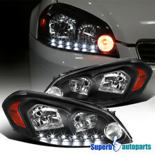 For 2006-2013 Chevy Impala 2006-2007 Monte Carlo Black Headlight LED Lamps