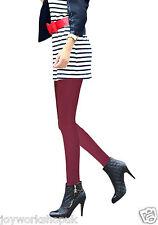 Ladies plus size Angora warm wool tights winter thick burgundy wine blue green