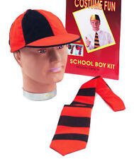 School Boy Fancy Dress Costume Kit Disco Hat & Tie