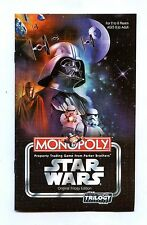 2004 Star Wars Original Trilogy MONOPOLY Game Replacement INSTRUCTION RULES BOOK
