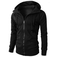 Men Winter Slim Hoodie Warm Hooded Sweatshirt Coat Jacket Zip Up Outwear Sweater