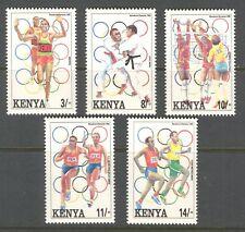SPORT: BARCELONA OLYMPIC GAMES ON KENYA 1992 Scott 578-582, MNH