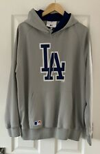 MENS NEW ERA GREY LA HOODED HOODY JUMPER XL EXTRA LARGE HOODIE