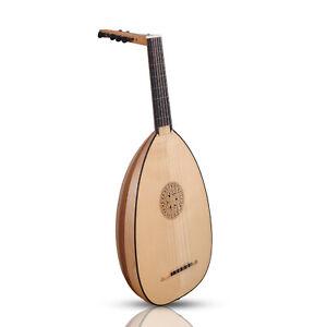 Muzikkon 6 Course Heartland Renaissance Lute, Left Handed Maple & Walnut