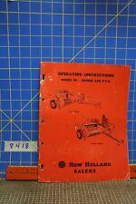 Vintage New Holland Baler Manual