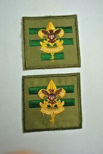 1960s Senior Patrol Leader / Assist. Senior Patrol Leader Patches - BSA  Scouts