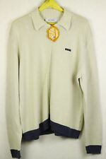 SPELL OUT RARE Mens YVES SAINT LAURENT Cardigan CABLE KNIT SWEATER Grey XL P59